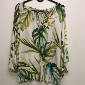 Chico's long sleeve Blouse safari green